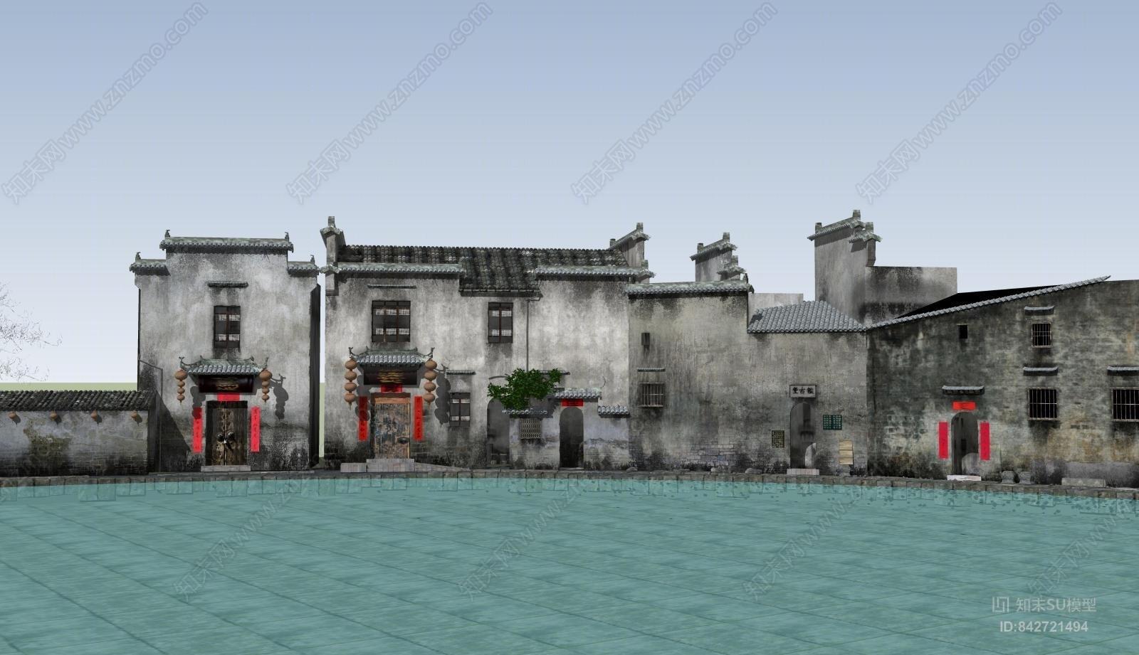 中式风格建筑 乡村民居 江南民居