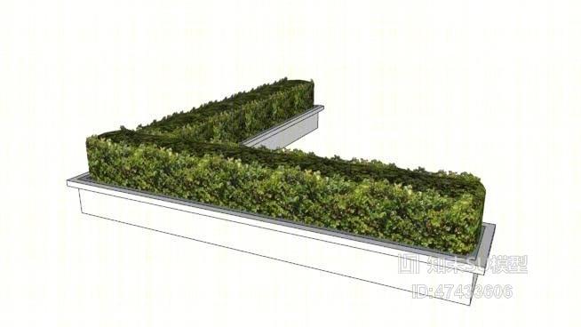 绿植墙 草图大师模型