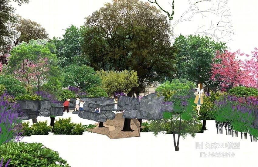 植物树灌木组合SU模型