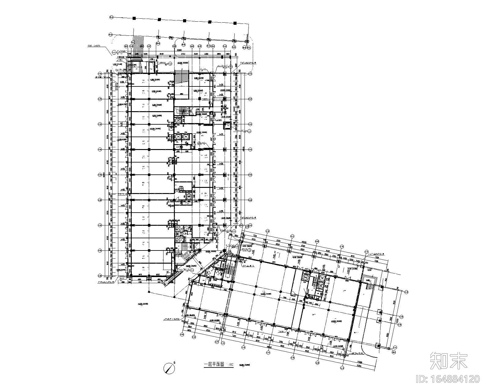 9层钢混框架结构办公楼加固改造施工图2017施工图下载【ID:164884120】