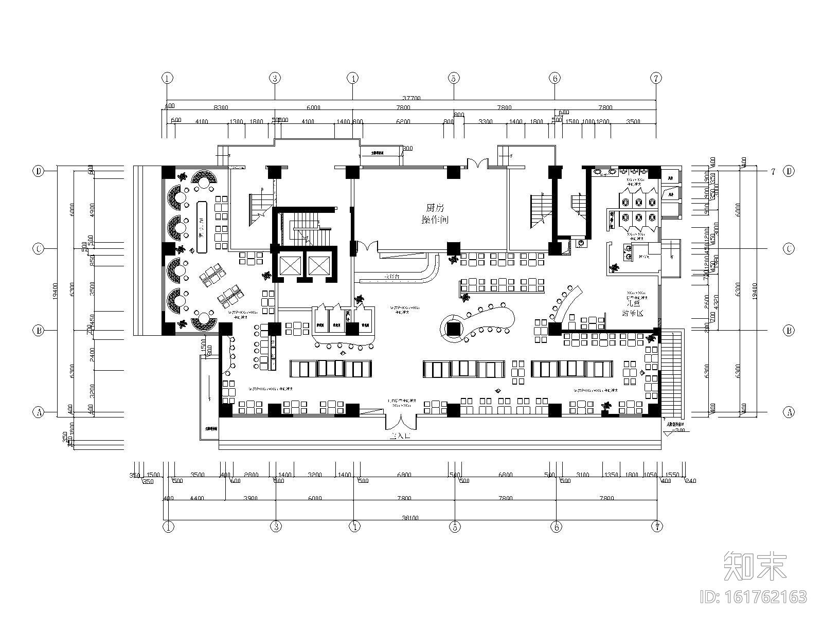 现代简约风格咖啡厅装修施工图(附效果图)施工图下载【ID:161762163】