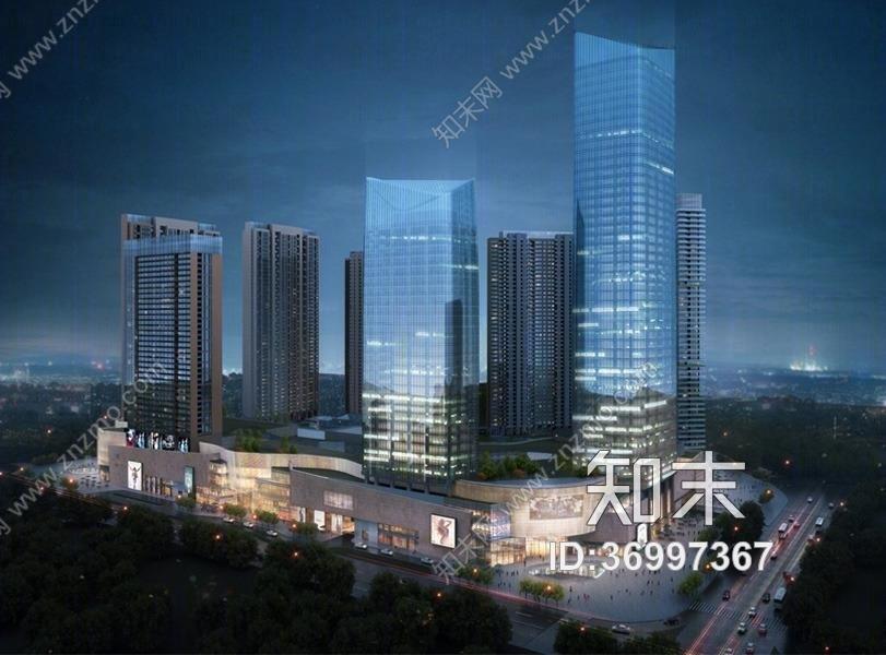 深圳壹方中心项目施工图+效果图施工图下载【ID:36997367】