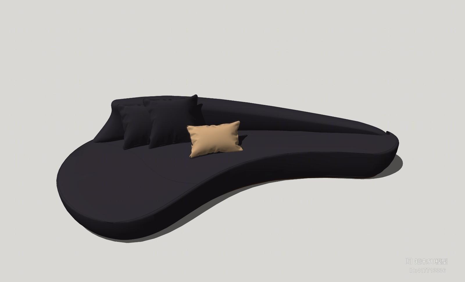懒人沙发SU模型