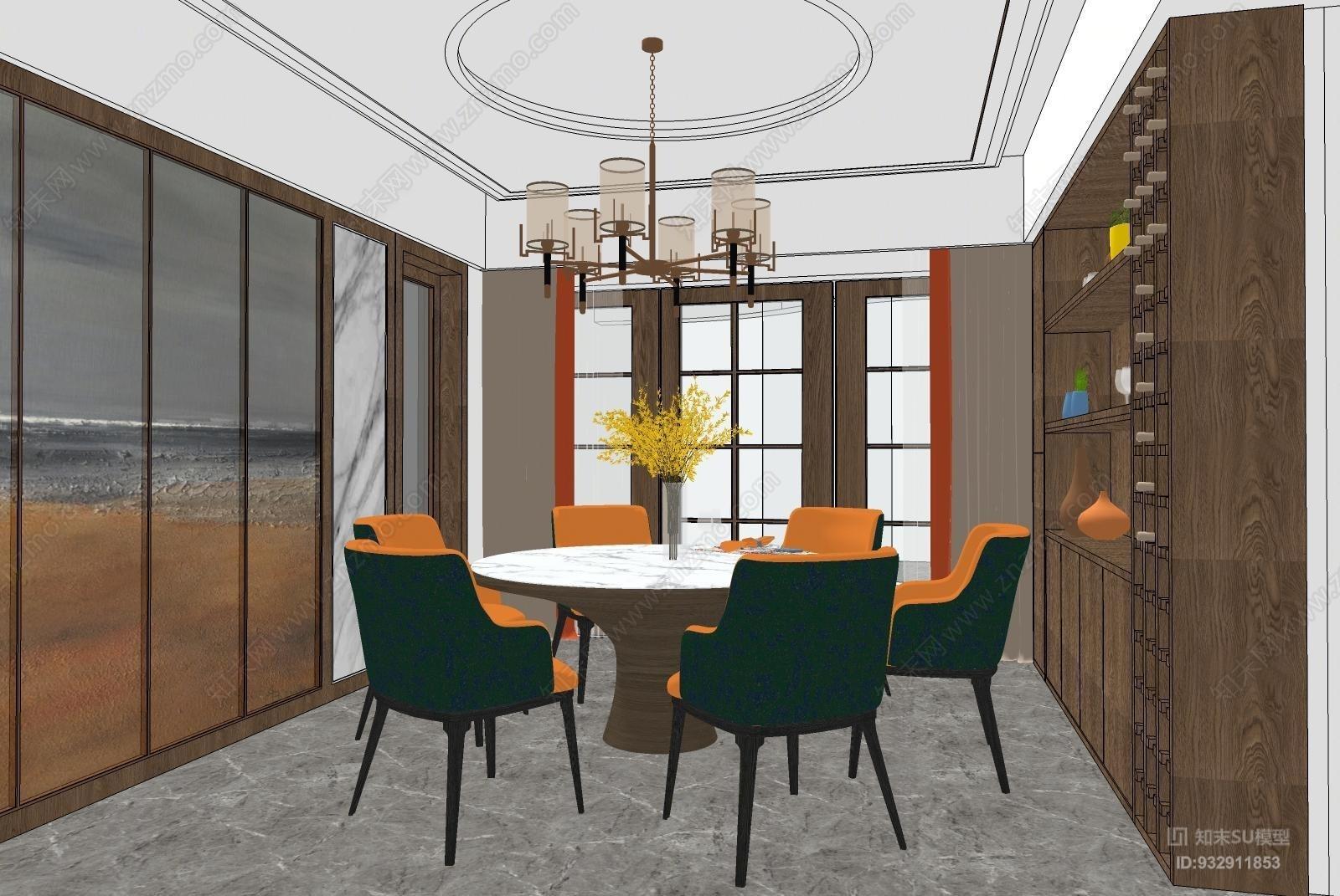 简约时尚客餐厅办公室 会议室 庭院 餐厅 其他