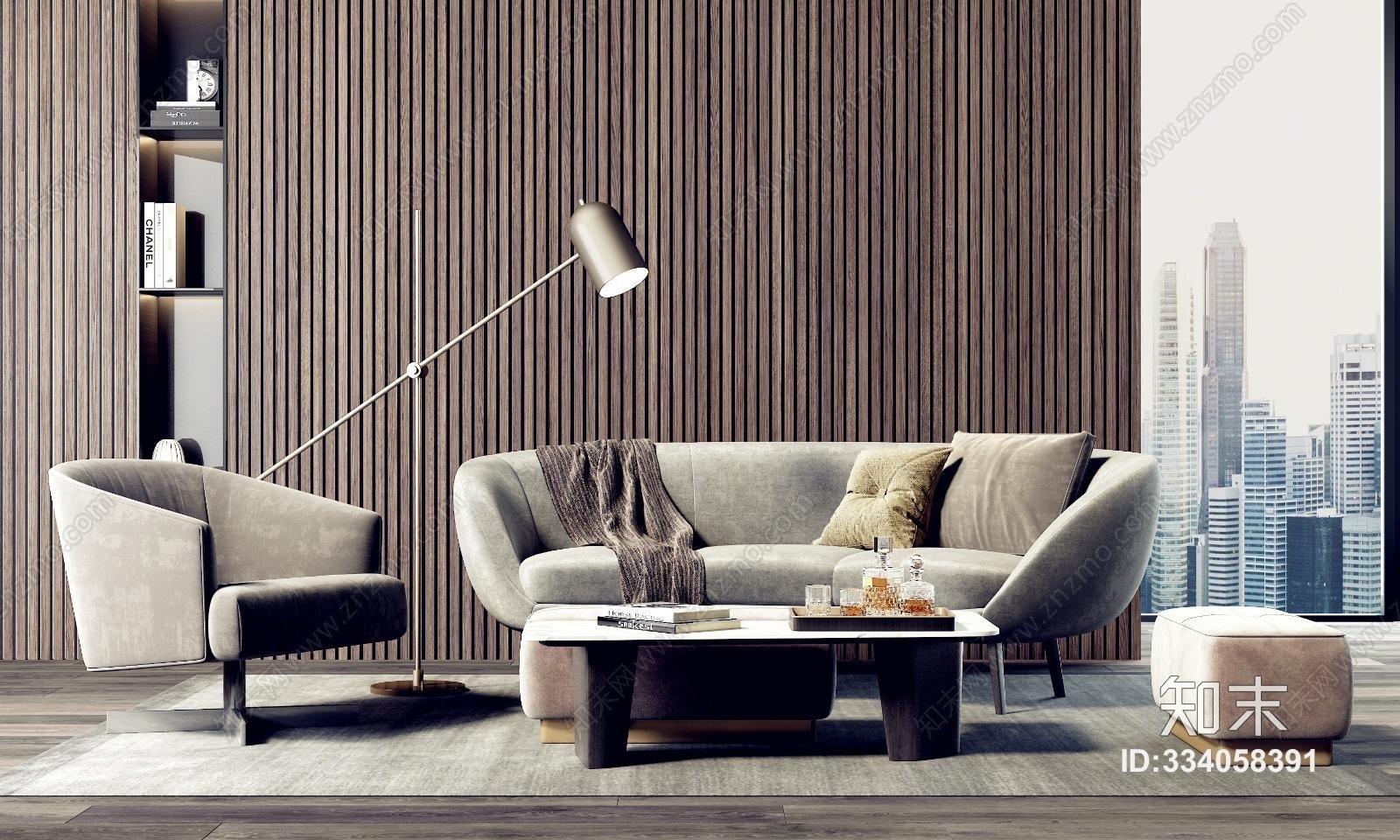 现代意沙发茶几组合