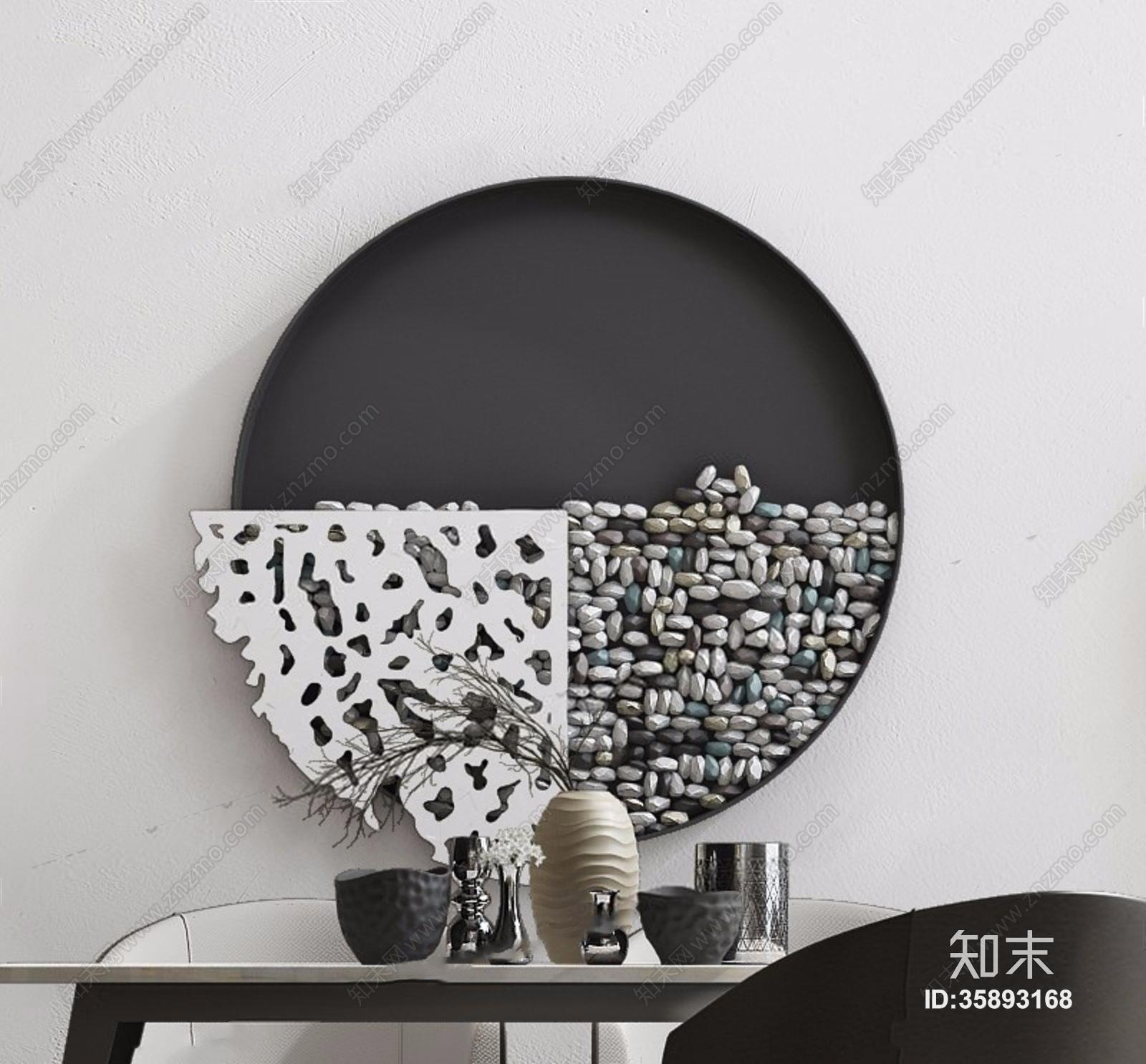 现代桌椅墙饰组合 现代桌椅 餐桌 餐椅 单椅 墙饰 壁灯 瓷器 摆件