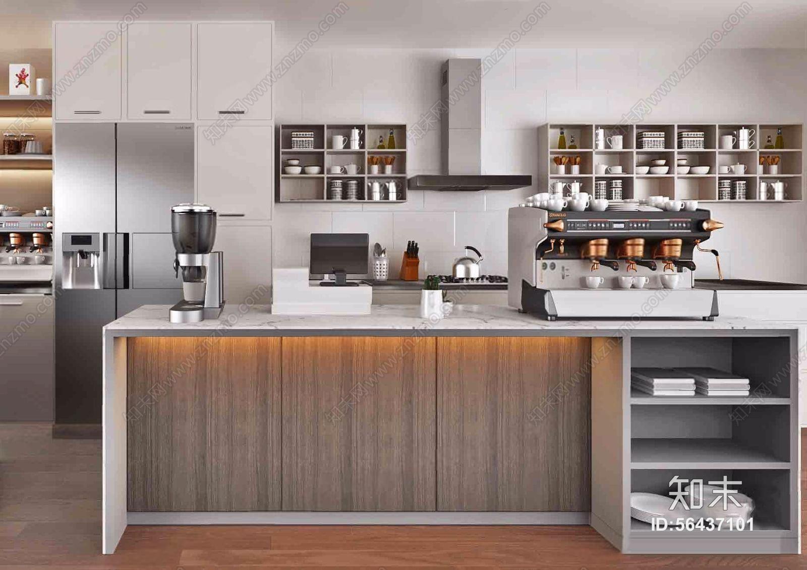 现代厨房 现代厨房 吧台 吧椅 橱柜 中岛 厨具 餐具 绿植