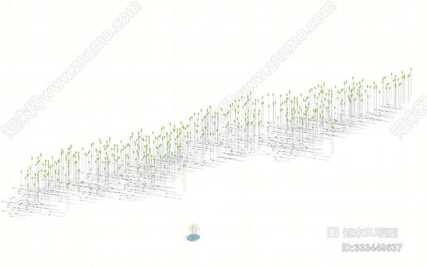 麦穗灯SU模型