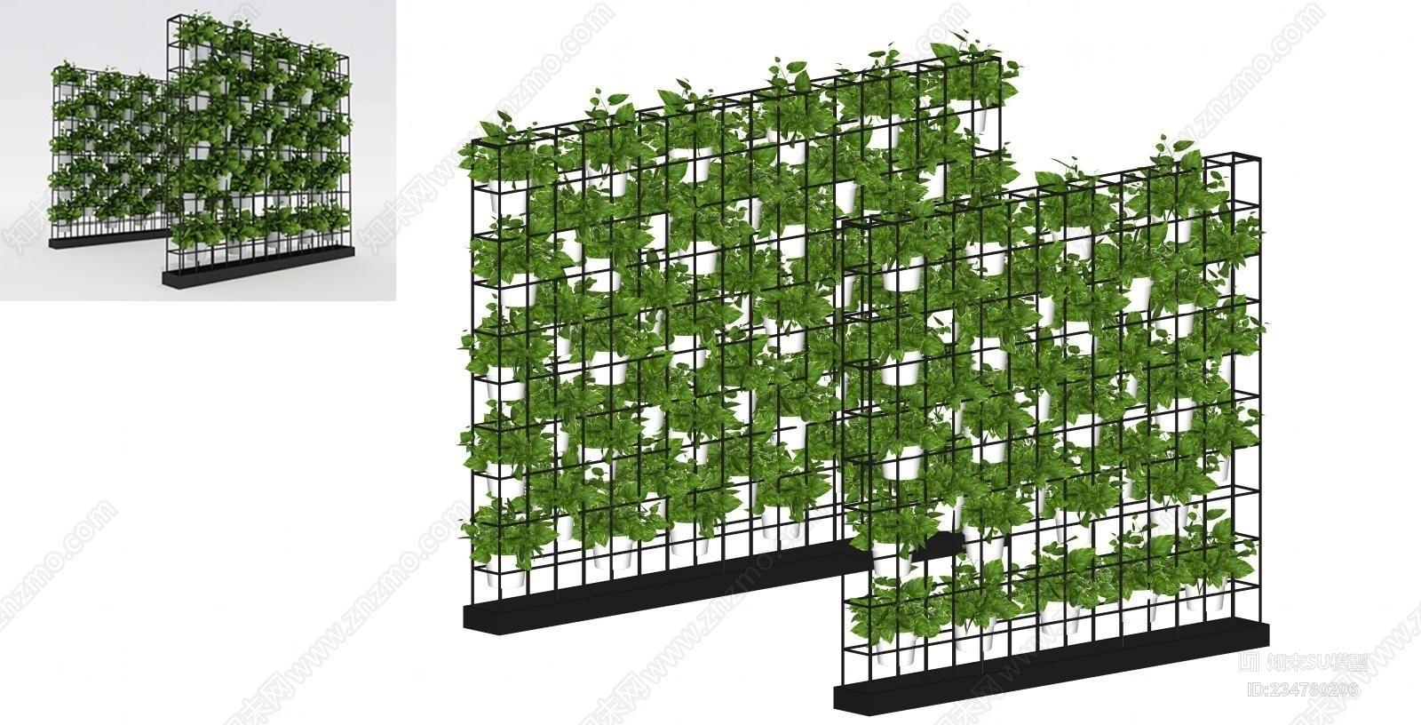 绿植装饰墙摆设