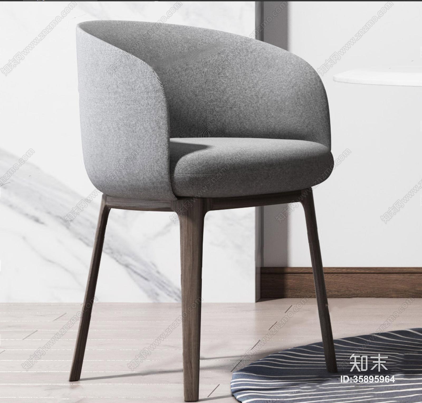 现代圆形餐桌椅组合 现代餐桌椅 圆桌子 单椅 餐椅 吊灯 挂画 圆形地毯 摆件