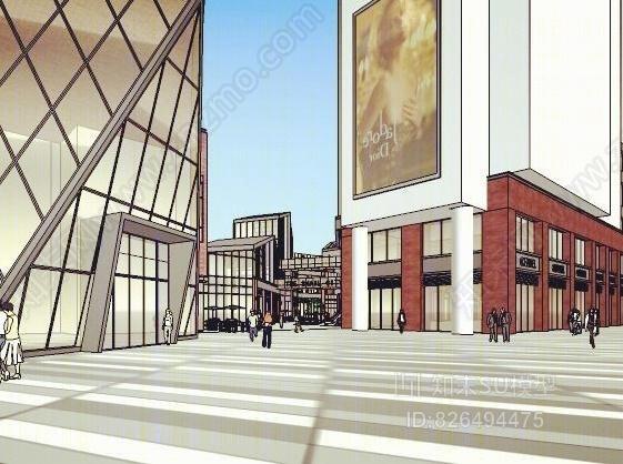 现代艺术办公商业街