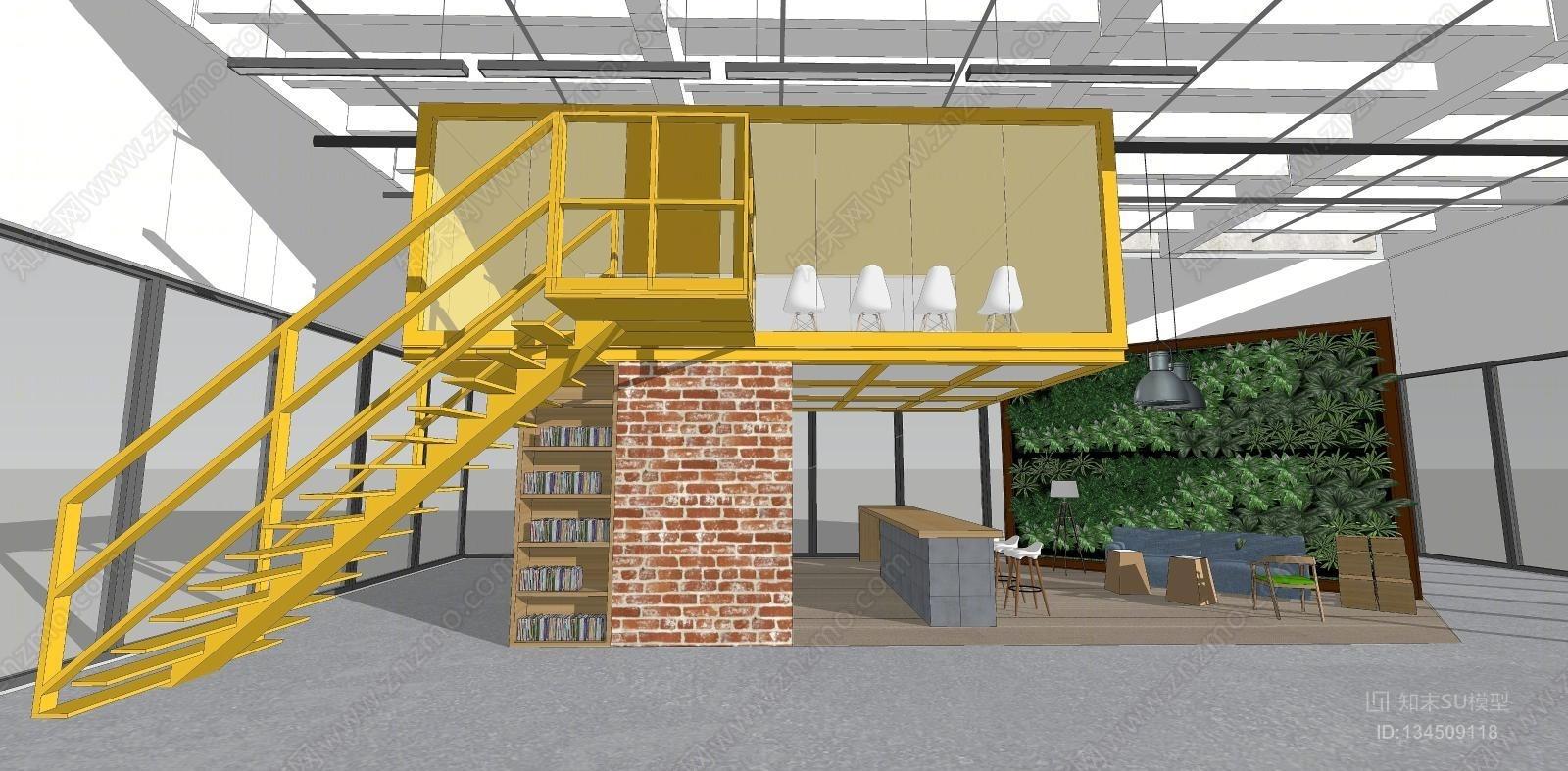 创意工场园区办公休闲区
