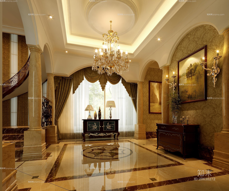 欧式古典水晶吊灯 欧式古典金色金属壁灯 欧式古典棕色长方形木艺玄关