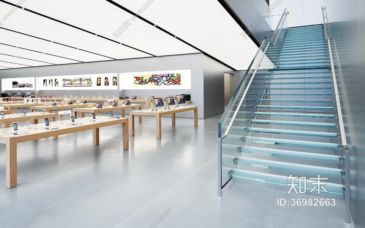 杭州西湖苹果旗舰店施工图下载【ID:36982663】