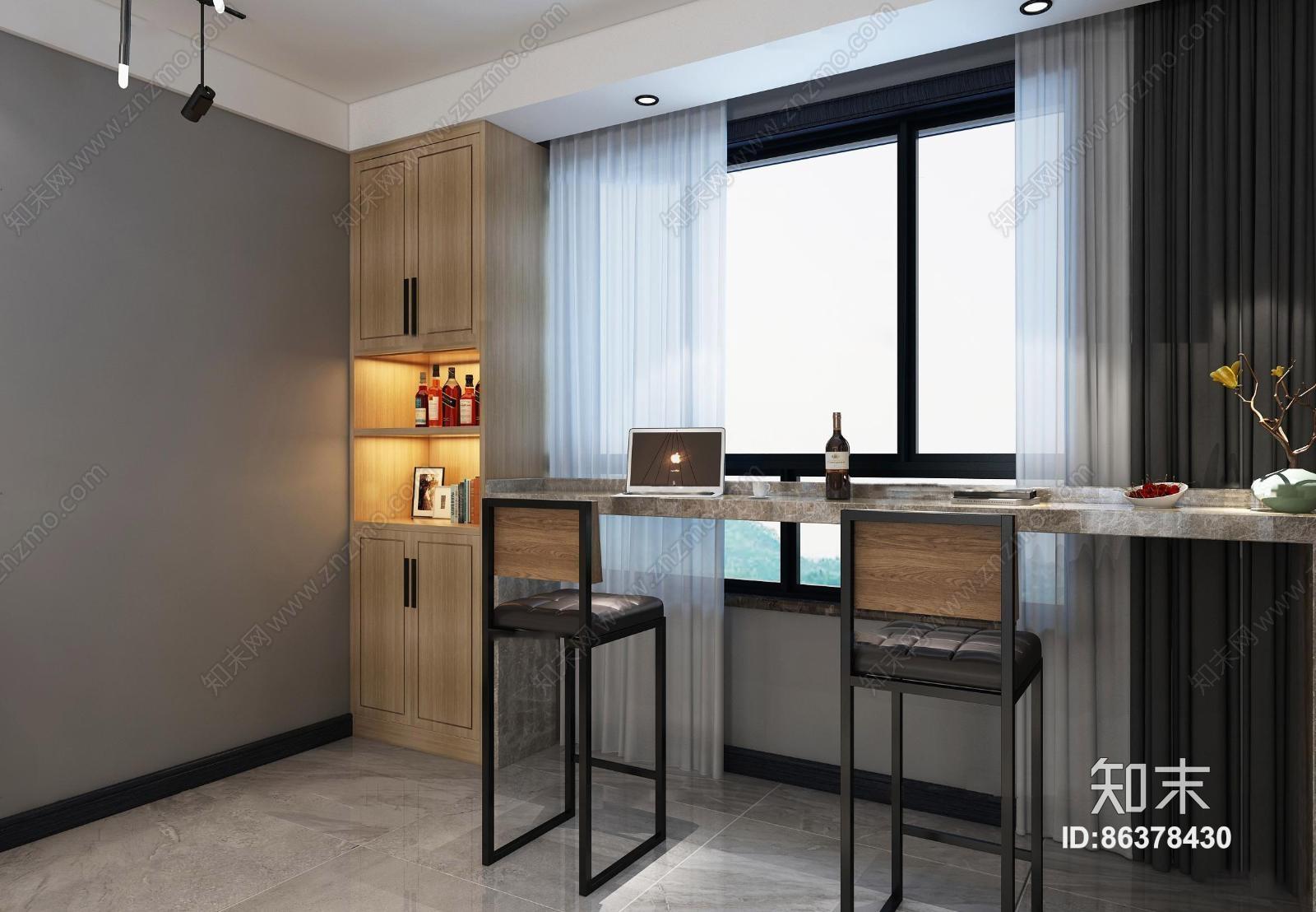北欧客厅餐厅 吊灯 台灯 单双人沙发 茶几 装饰柜 陈设摆件 置物架 吧台 储物柜