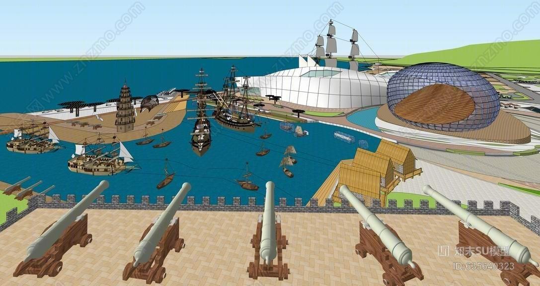 航海博物馆SU模型
