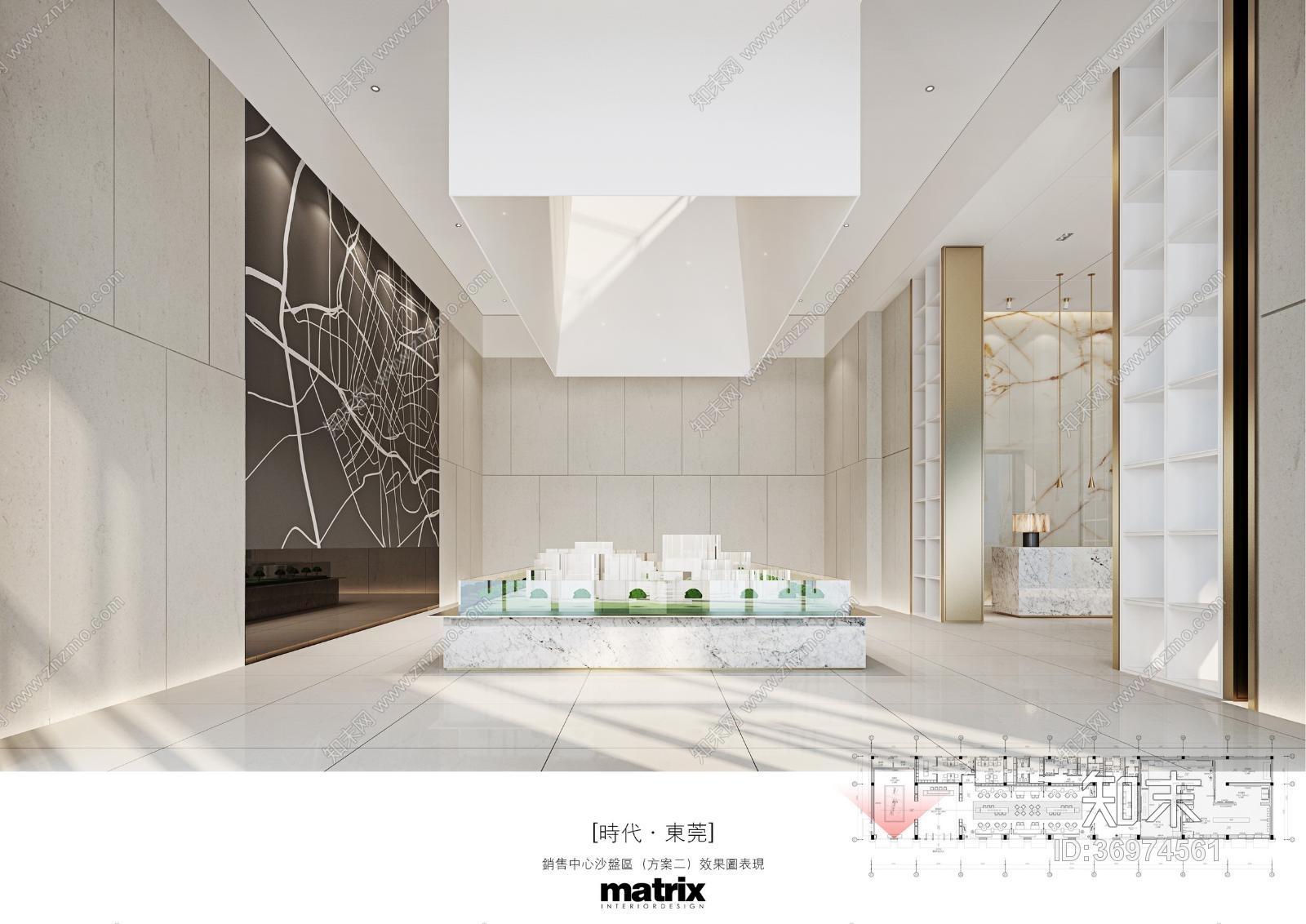 MATRIX矩阵-东莞石排时代销售中心项目施工图+效果物料施工图下载【ID:36974561】