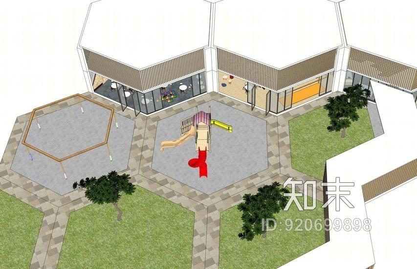 幼儿园室内设计SU模型SU模型下载【ID:920699898】