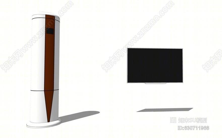 空调电视组合SU模型SU模型下载【ID:630711968】