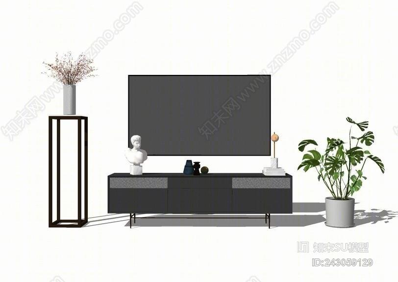 电视柜SU模型