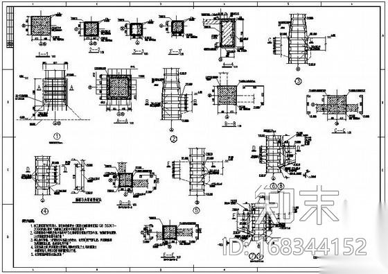 某混凝土梁柱结构加固设计图施工图下载【ID:168344152】