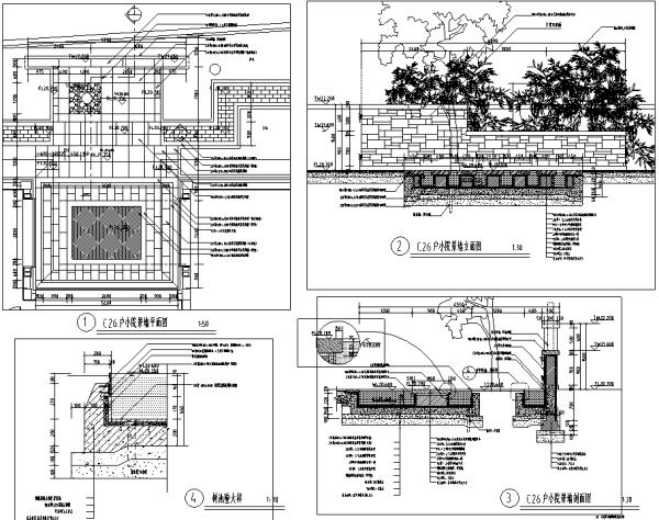[北京]6套中式私家庭院花园景观设计施工图(附方案文...施工图下载【ID:160687123】