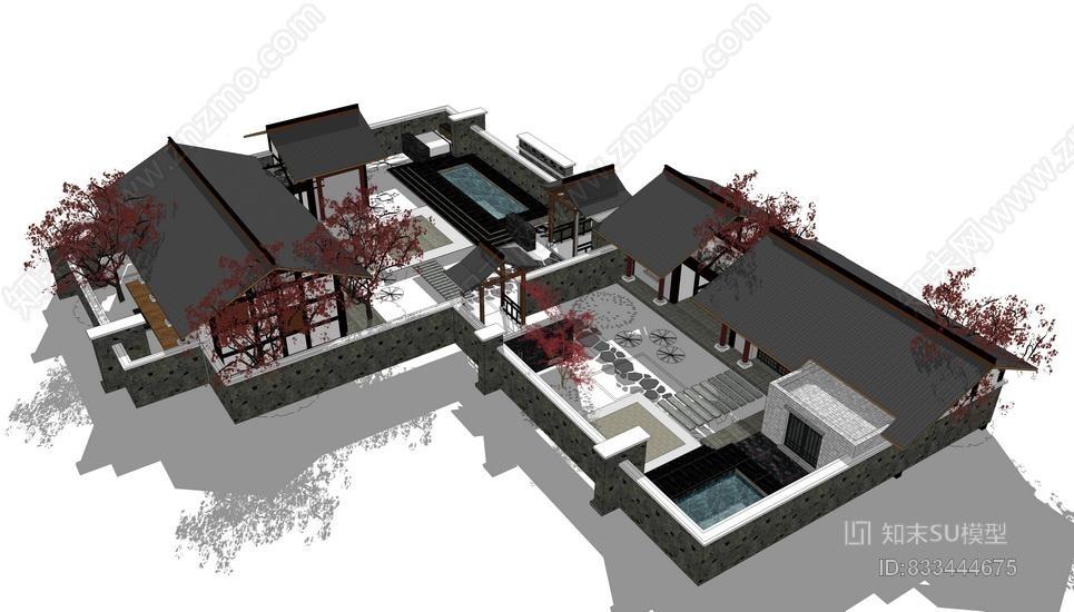 中式合院SU模型