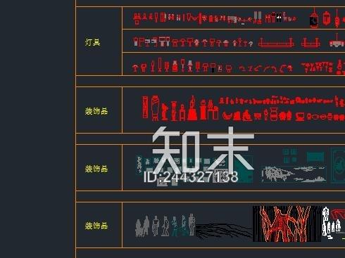 cad立面素材图块施工图下载【ID:244327138】
