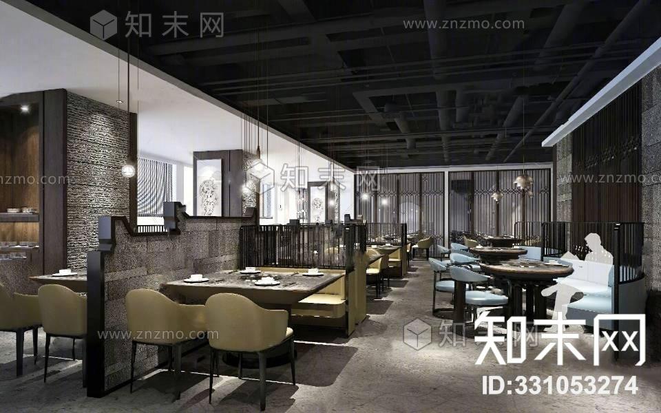现代火锅店3d模型