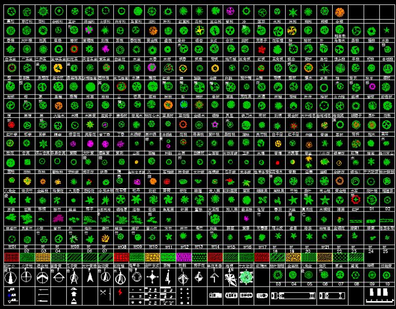 数百种CAD平面树图例施工图下载【ID:149678138】