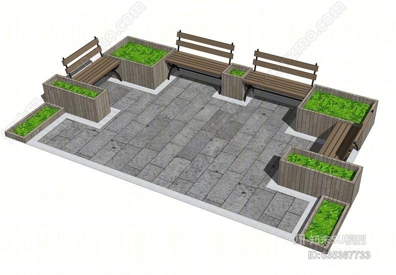 景观节点SU模型SU模型下载【ID:635387733】