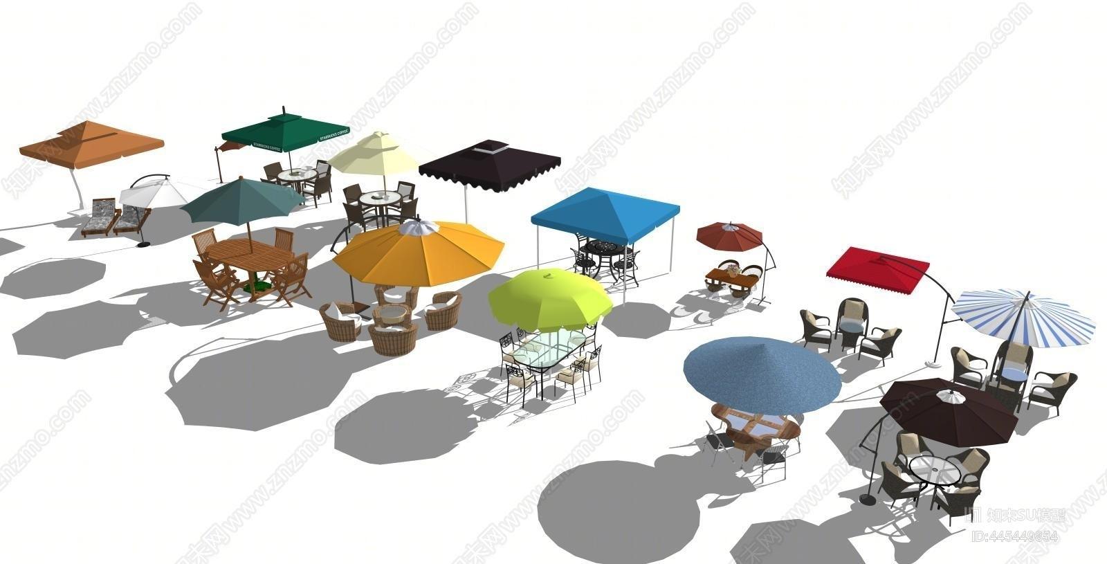 现代户外遮阳伞合集