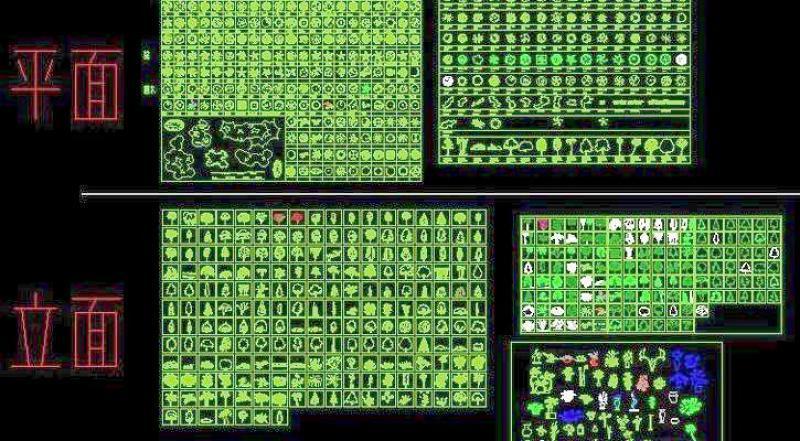 比较全的CAD常用植物平立面施工图下载【ID:149683110】