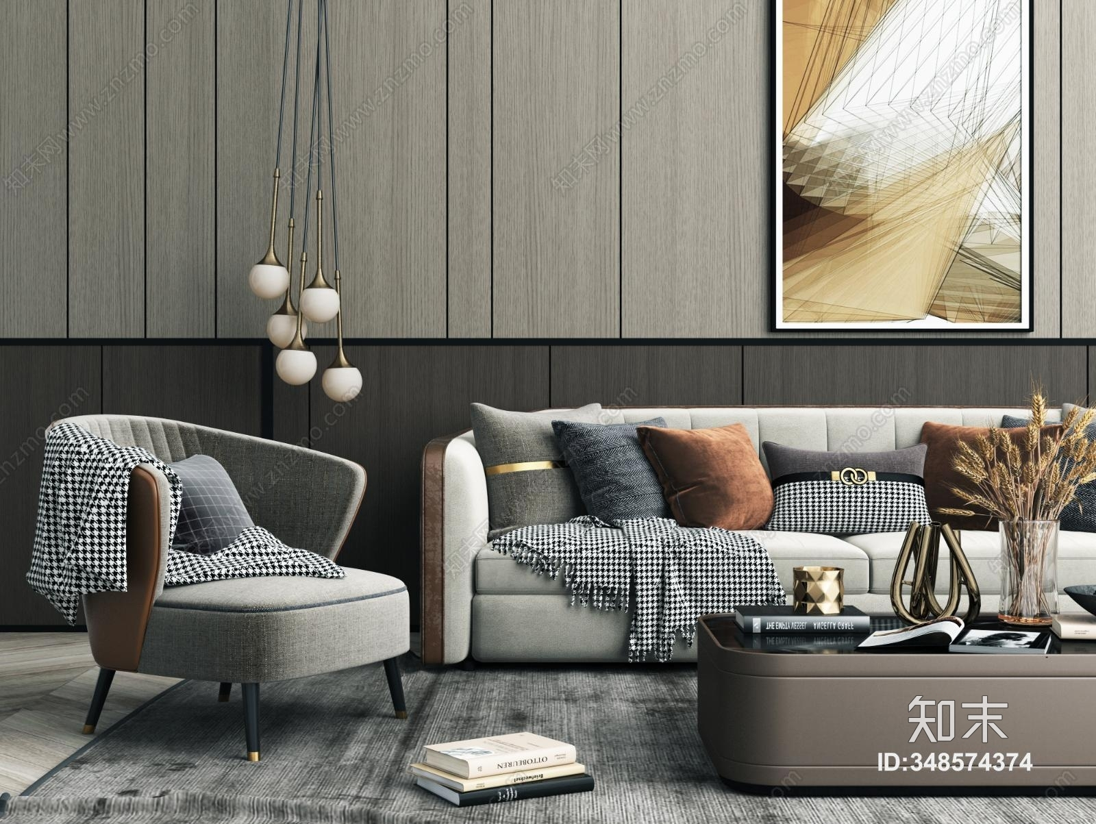 现代沙发茶几组合 多人沙发组合