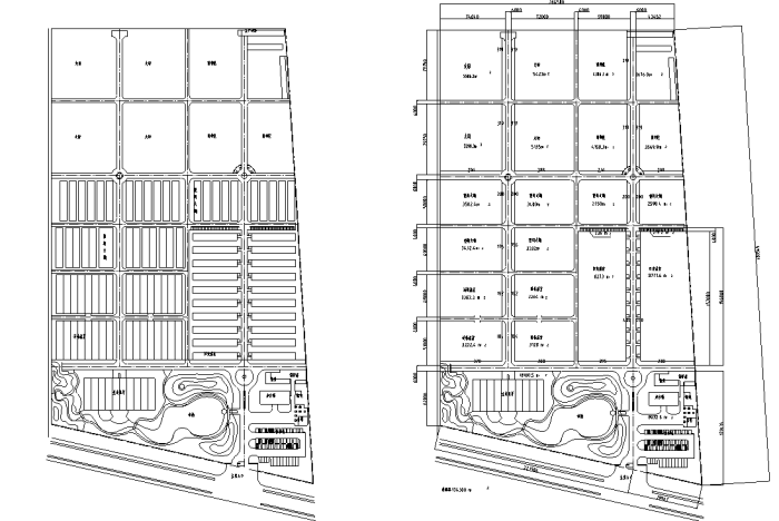 生态农业度假区景观规划设计CAD平面图施工图下载【ID:161803159】