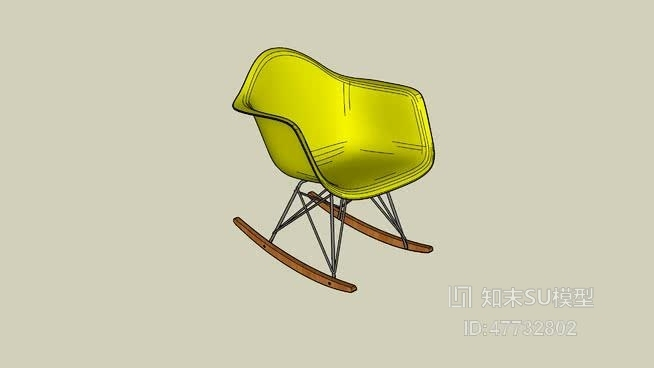 摇椅SU模型下载【ID:47732802】