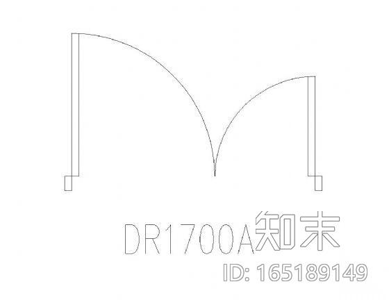 各尺寸门平面图块集施工图下载【ID:165189149】