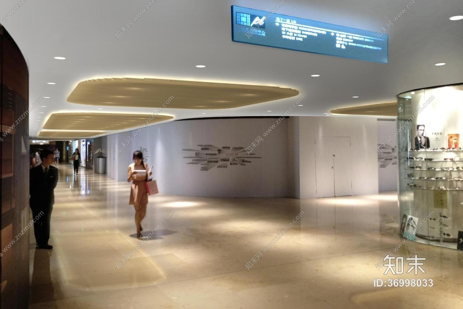 【北京银泰中心】商业公共区域B1&3层施工图下载【ID:36998033】