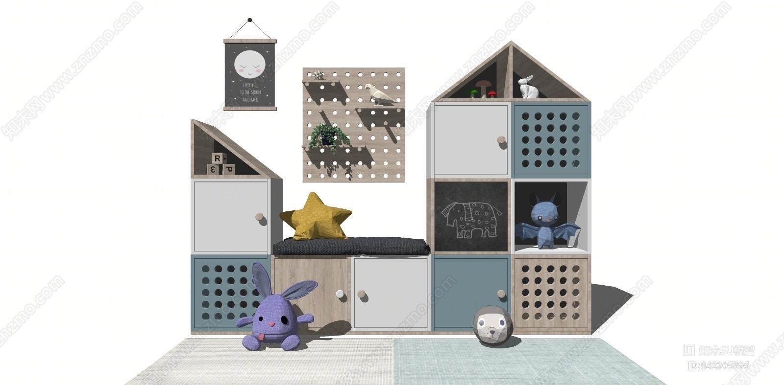现代儿童房装饰柜