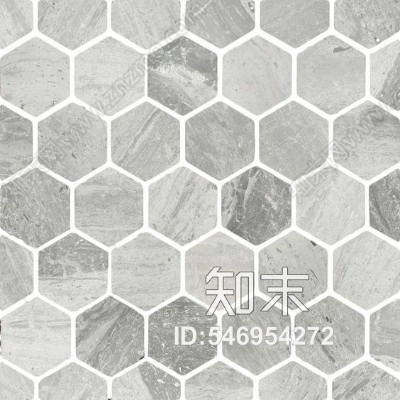 轻奢现代六边形拼花砖花片贴图下载【ID:546954272】