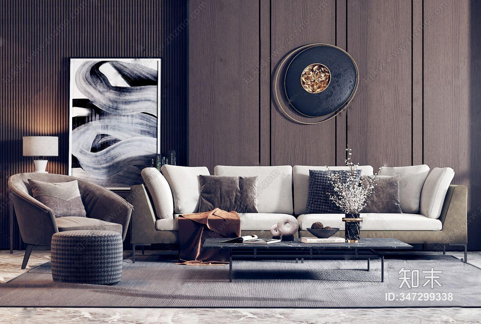 现代沙发茶几组合 多人沙发