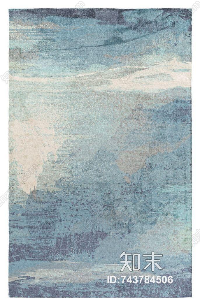 蓝色小清新地毯贴图下载【ID:743784506】