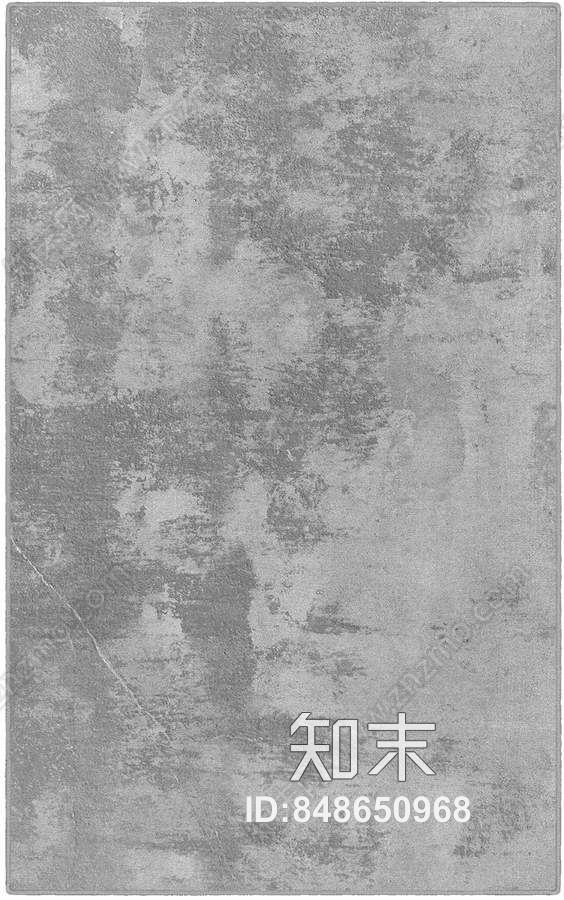 现代抽象印花地毯灰色贴图下载【ID:848650968】