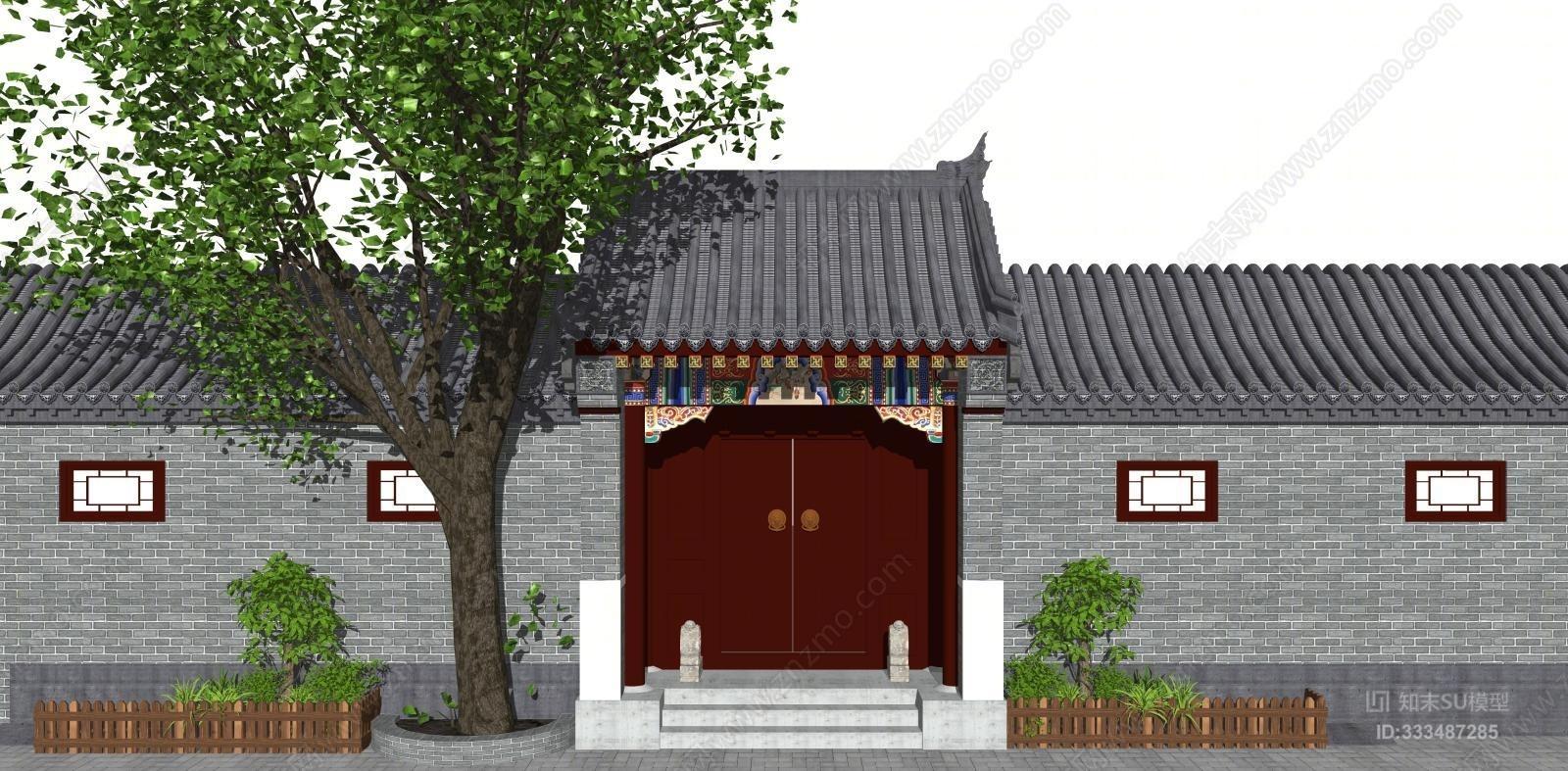 中式四合院门头