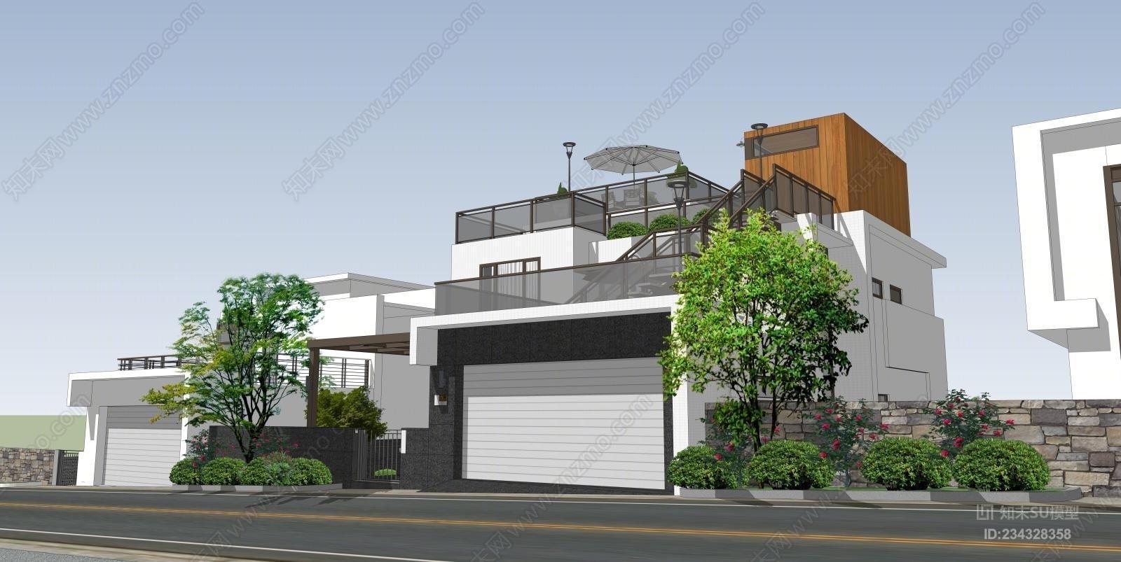 别墅建筑园林方案