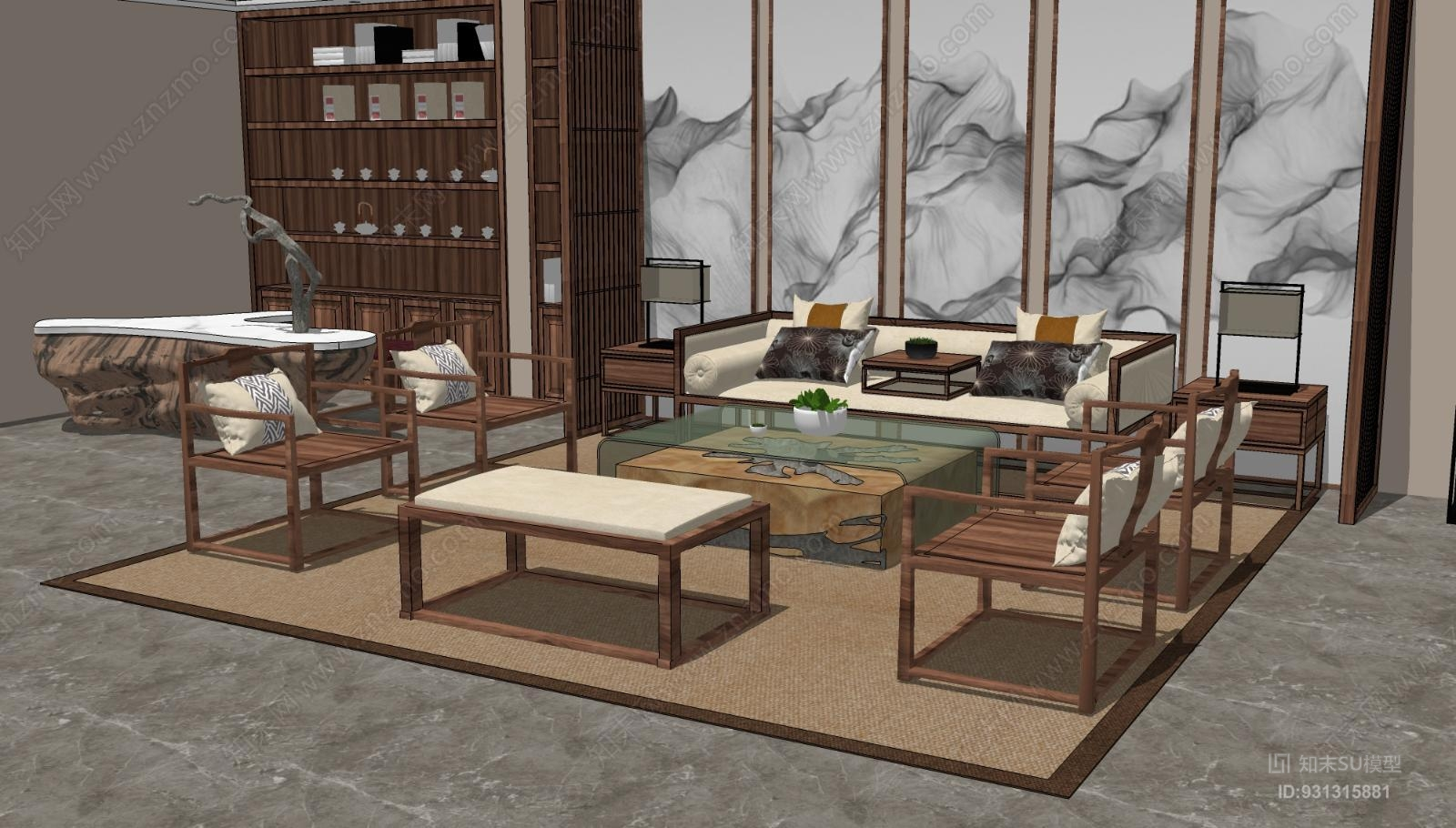 新中式客厅 茶室