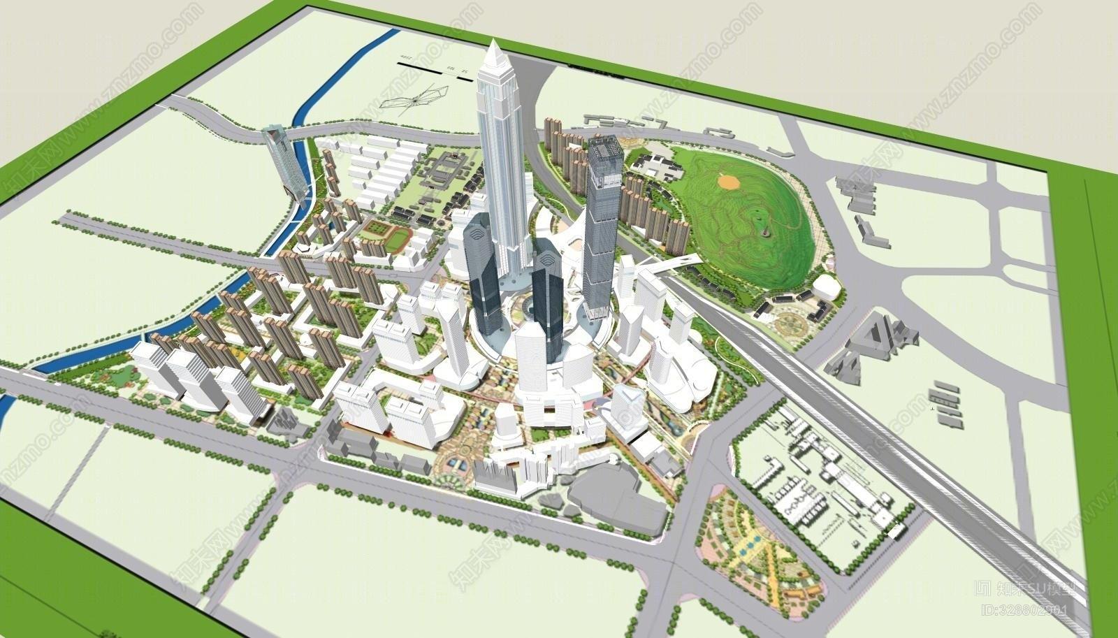 城市设计SU模型下载【ID:328802901】