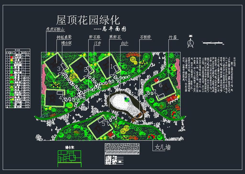 31套屋顶花园施工图下载【ID:330319970】