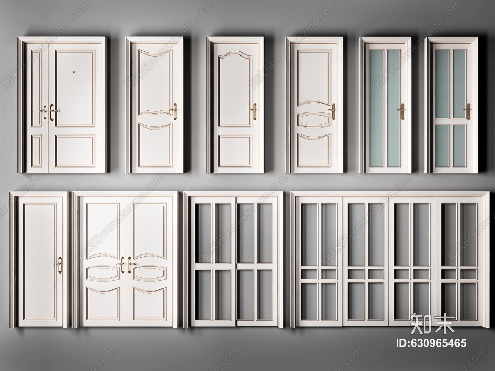 简欧式白色烤漆实木平开门 指母门 推拉门 厕所单开房门