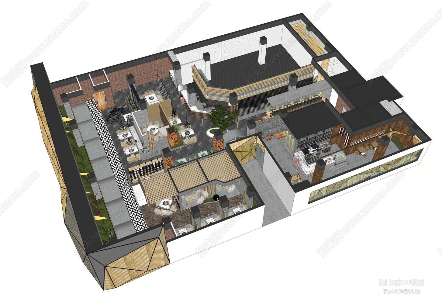 火锅店 餐厅餐饮茶餐厅 咖啡厅 空间设计 吊灯 装饰品 摆件 卡座